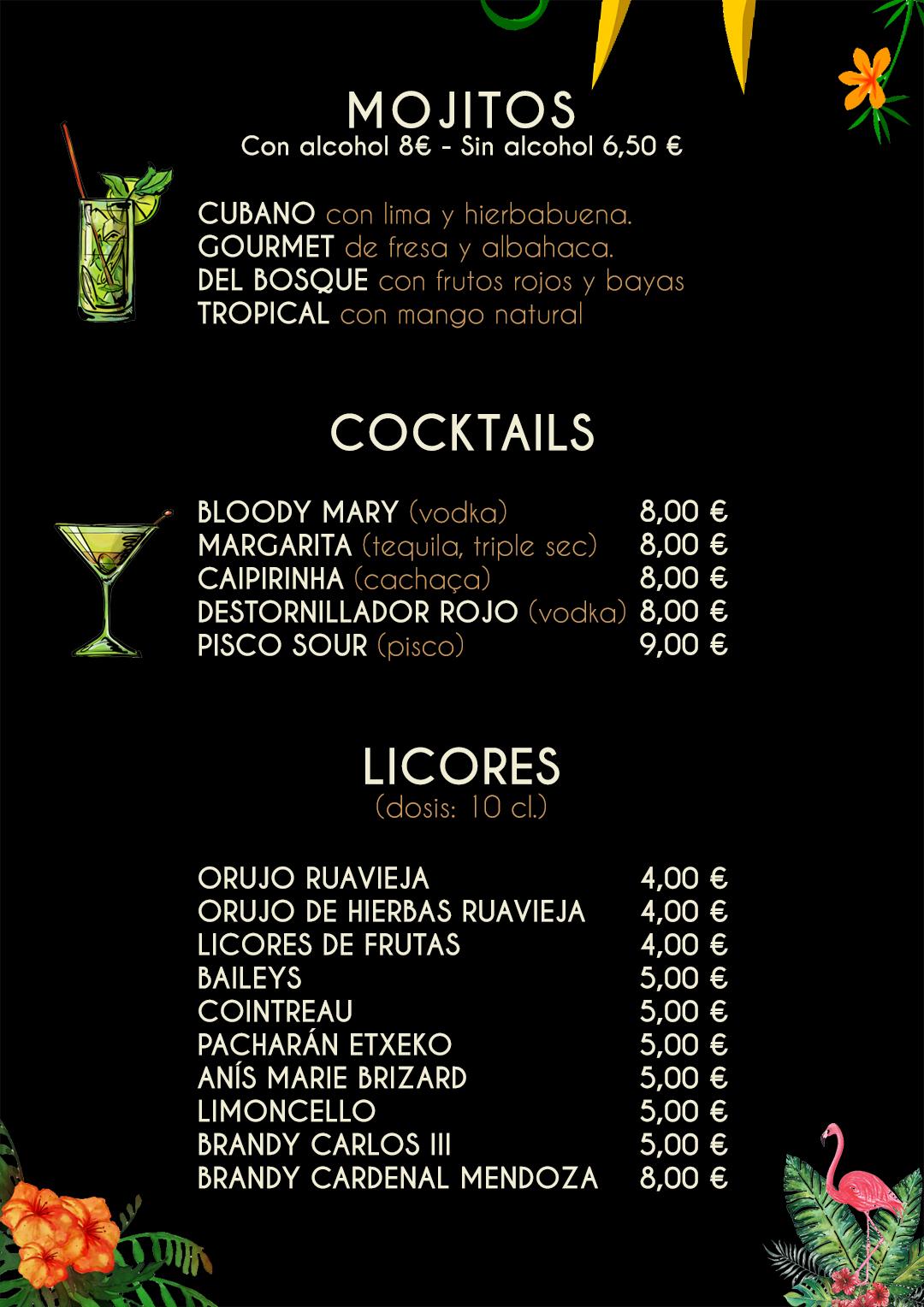 mojitos cocktails y licores tragabuches